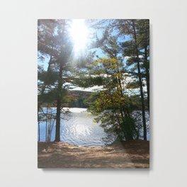 Quiet Lake in Autumn Metal Print