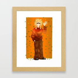 Sweater All Might Framed Art Print