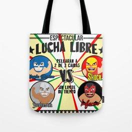 cartel de lucha libre Tote Bag