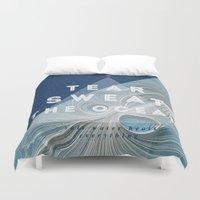 salt water Duvet Covers featuring Salt water heals by Lara garcia