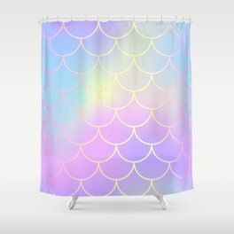 Pink Blue Mermaid Tail Abstraction Shower Curtain