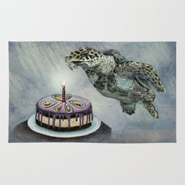 Turtle Birthday Rug