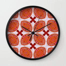 Tribal Shields Abstract Pattern Wall Clock
