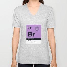 Periodic Element B - 35 Bromine Br Unisex V-Neck