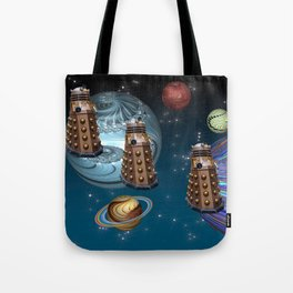 March Of The Daleks Tote Bag