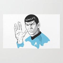 Star Trek Spock illustration Rug