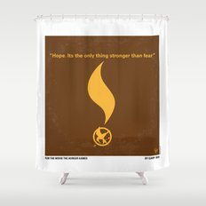 No175 My Games Hunger minimal movie poster 1 Shower Curtain