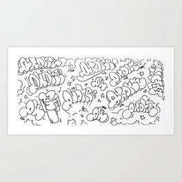 QU Throws Art Print