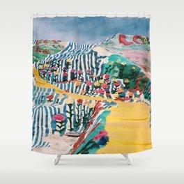 Salvation Mountain Shower Curtain