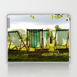 {deck chairs in hyde park} Laptop & iPad Skin
