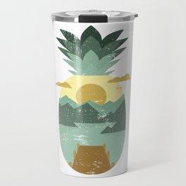 Vintage Tropical Fruit - Pineapple Travel Mug