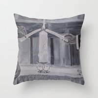wedding Throw Pillows featuring Wedding by Lark Nouveau Studio
