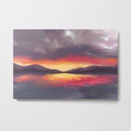 Sunset Inspired by Mokoia Metal Print