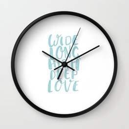 LOVE inifinite - BLUE Wall Clock