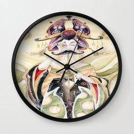 Mustachioed Oiran  Wall Clock