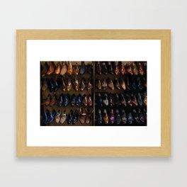 Italian Leather Shoes Framed Art Print