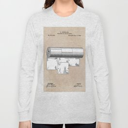 patent art Wheeler Wrapping of toilet paper 1894 Long Sleeve T-shirt