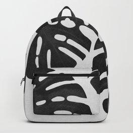 Monstera Black & White III Backpack