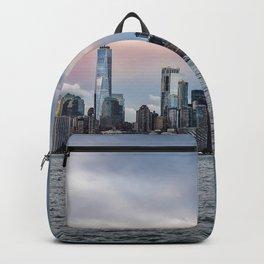 Skyline  of New York City at sunset Backpack