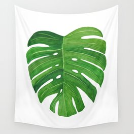 Monstera Deliciosa Leaf Wall Tapestry