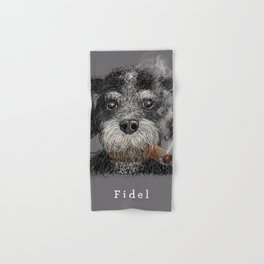 Fidel - The Havanese is the national dog of Cuba Hand & Bath Towel