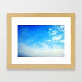 Airplane Landing Framed Art Print