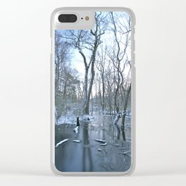 Snowy Winter Morning Clear iPhone Case