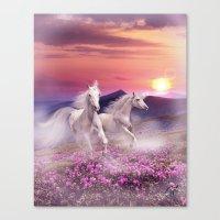 unicorns Canvas Prints featuring Unicorns by Nessendyl