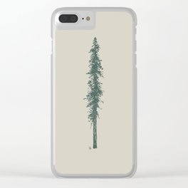 Love in the forest - tan Clear iPhone Case