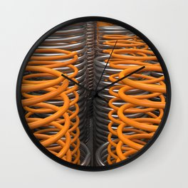 Plastic and metal springs and coils Wall Clock