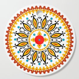Mandala warm colour pallette Cutting Board