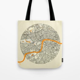 London Map Moon Tote Bag