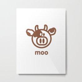 Cow : moo Metal Print