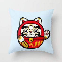 Darumao Senpai Throw Pillow