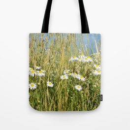 Wildflowers along the lake Tote Bag