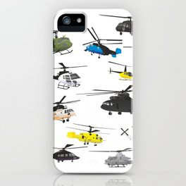 Multiple Helicopters iPhone Case
