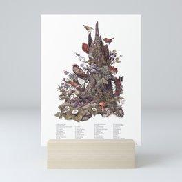Stump (with labels) Mini Art Print