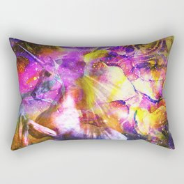 space universe unicorn Rectangular Pillow