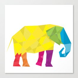 Elephant in polygon style vector Canvas Print
