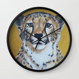 Cheetas, acrylic on canvas Wall Clock