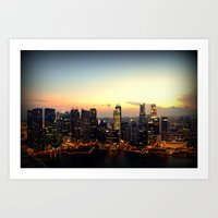singapore Art Prints featuring Singapore by Michael S.