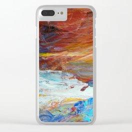 Rise wih Optimisim Clear iPhone Case