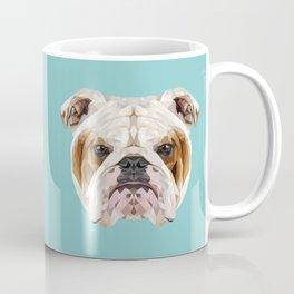 English Bulldog // Blue  Coffee Mug