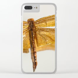 Gilt Dragonfly Clear iPhone Case
