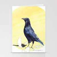 crow Stationery Cards featuring Crow by ankastan