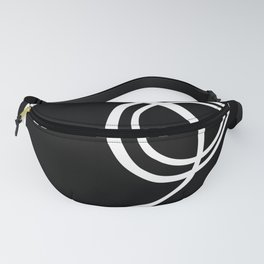 Black and White Circles Abstract Modern Fanny Pack