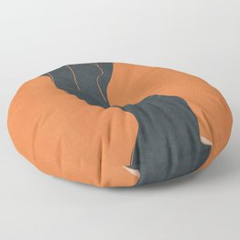Abstract Nude IV Floor Pillow