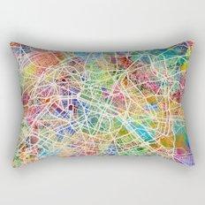 Paris France Street Map Rectangular Pillow