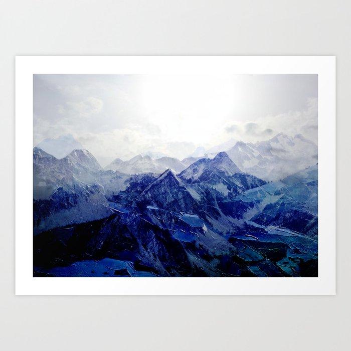Blue Mountain 2 Kunstdrucke