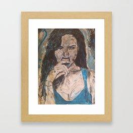 Biting Finger Framed Art Print